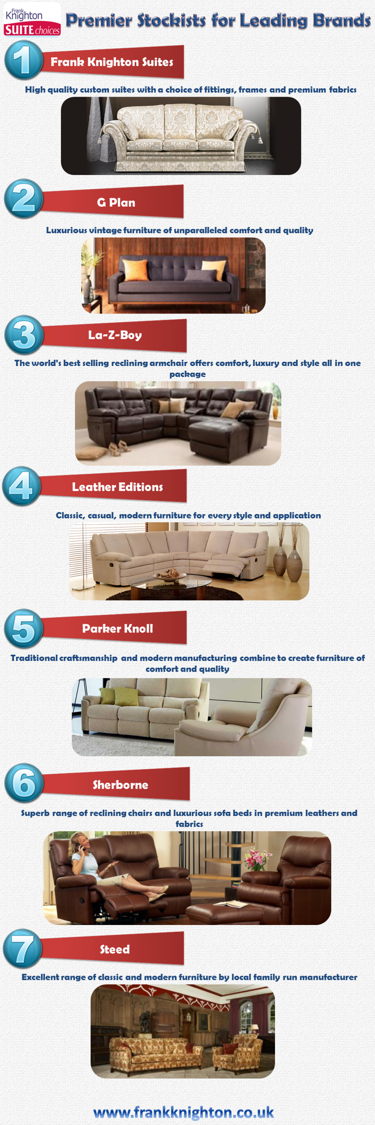 Frank Knighton: Premier Stockists of Leading Brands Infographic