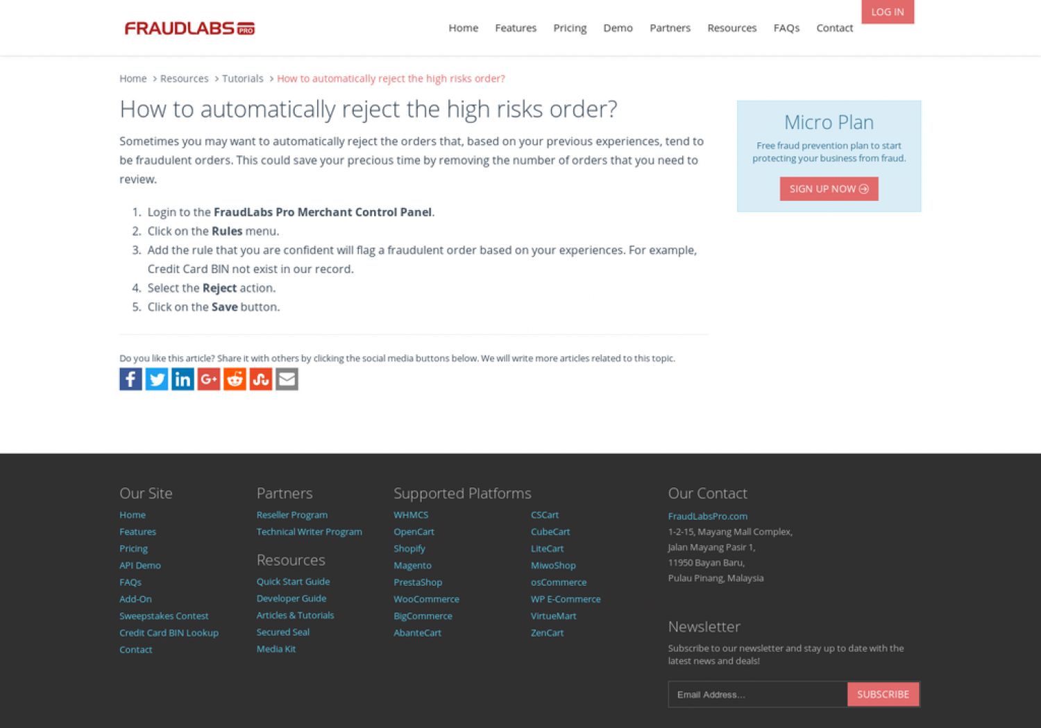 Fraud Labs Pro: How to Automatically Reject the High Risks Order? Infographic