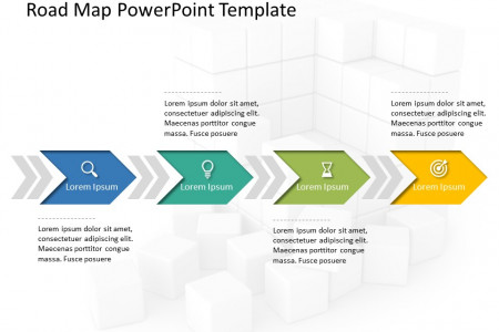 Free Business Roadmap PowerPoint Template Infographic