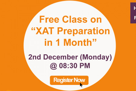 "Free Class on ""XAT Preparation in 1 Month"" Infographic"