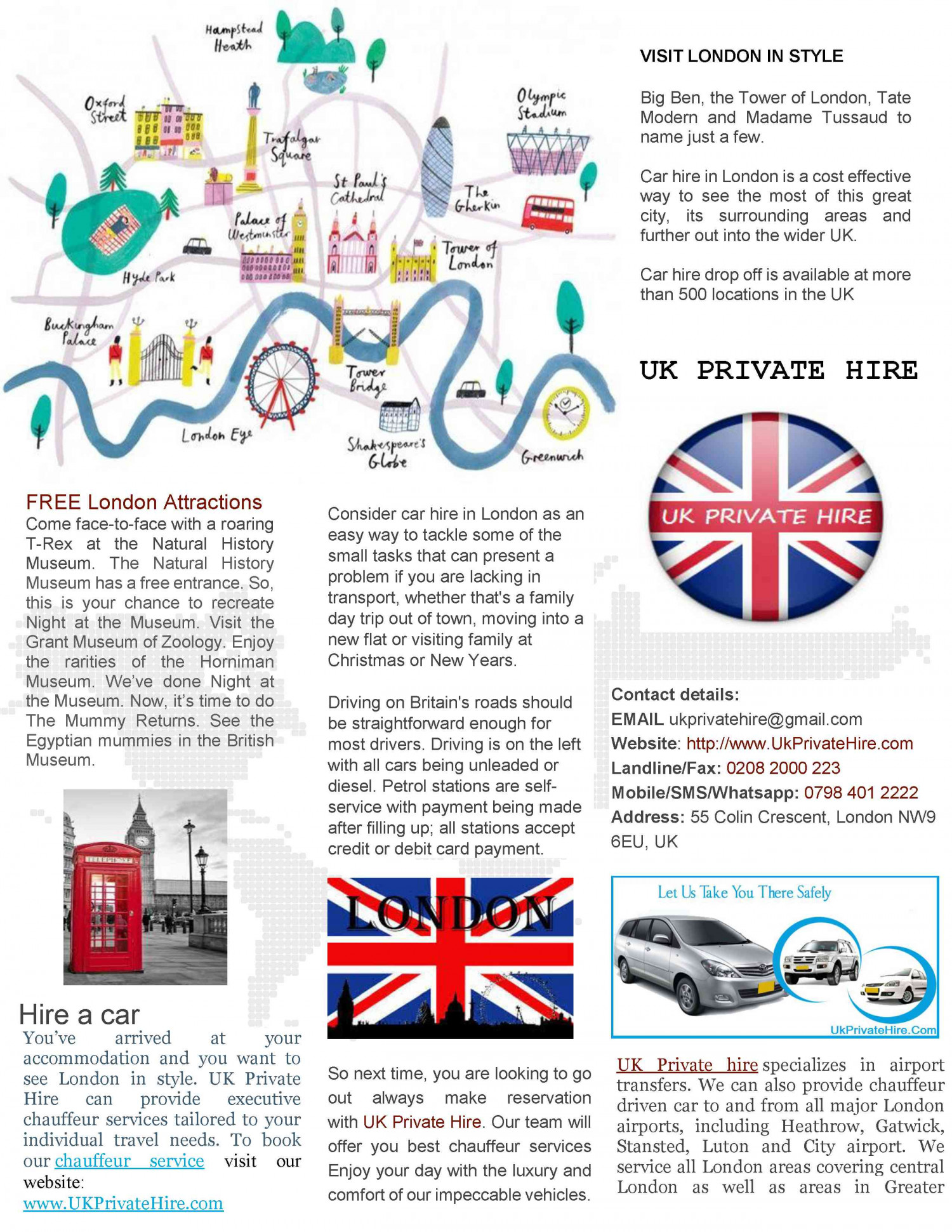 FREE London attractions Infographic