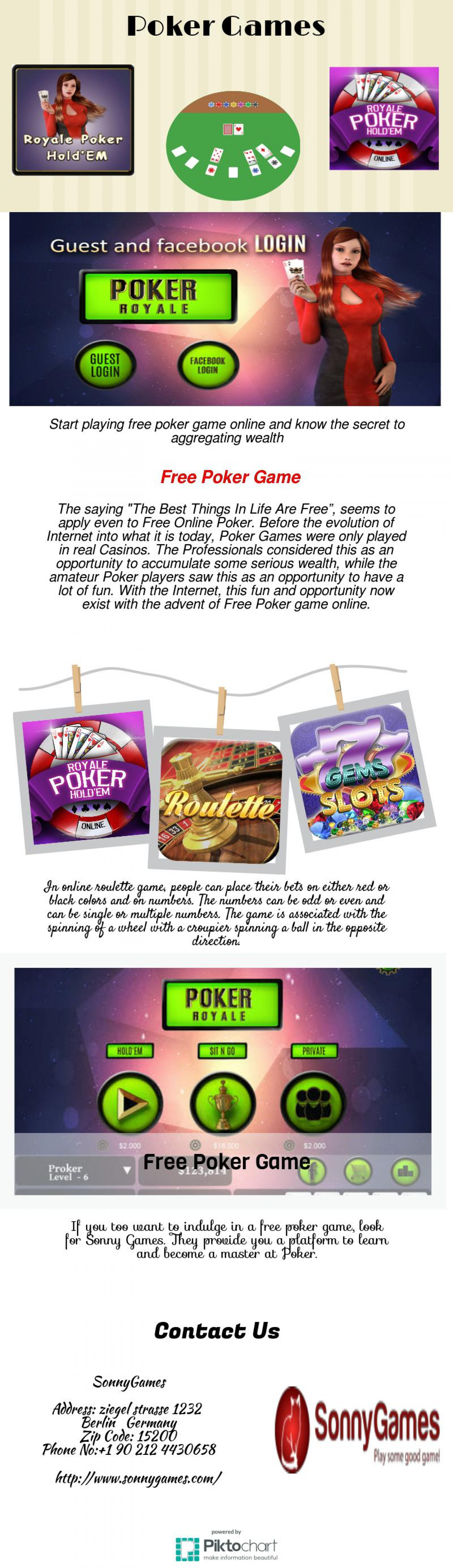 free poker game Infographic