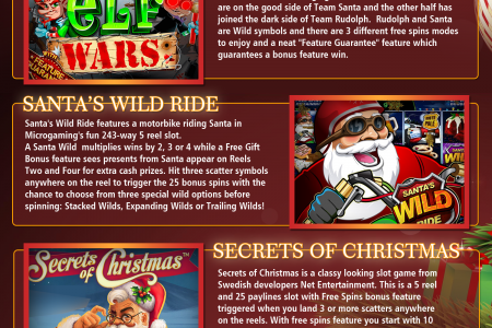 Free Slot 4U's Top 8 Christmas Slot Machines Infographic