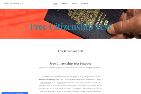 free citizenship test Infographic