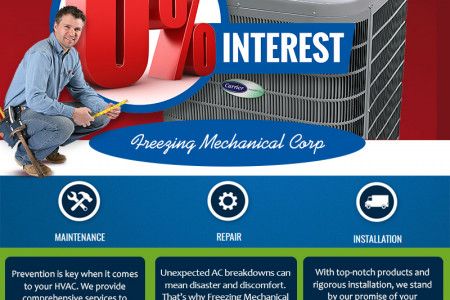 Freezing Mechanical AC Repair & Installation Infographic