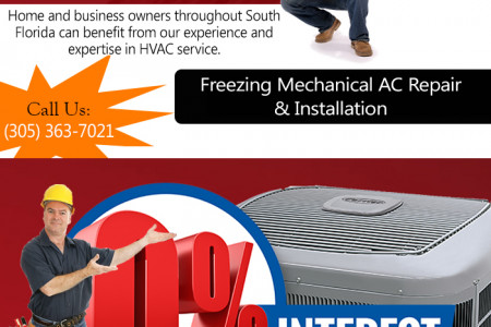 Freezing Mechanical Infographic