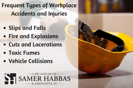 Frequent Types of Workplace Accidents and Injuries Infographic