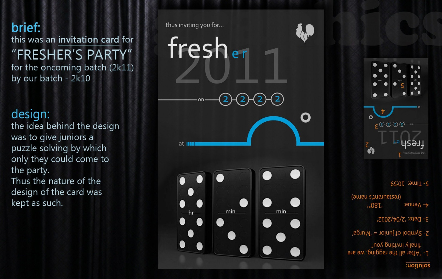 Invitation Card For Freshers Party Visual Ly