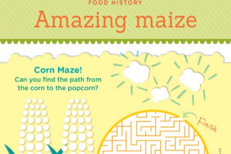 From Corn to Popcorn: Food History Infographic