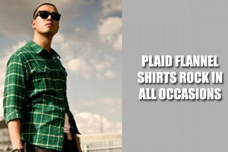 From Meetings to Gatherings: Plaid Flannel Shirts Rock In All Occasions Infographic