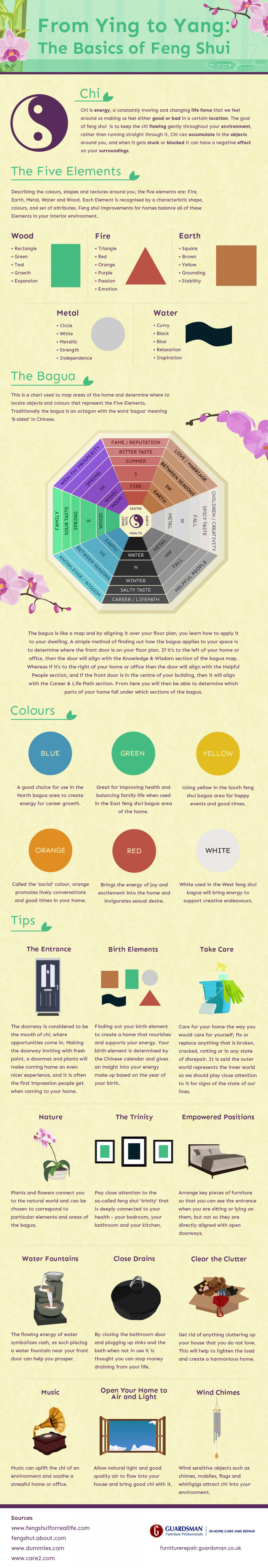 From Ying to Yang: The Basics of Feng Shui Infographic