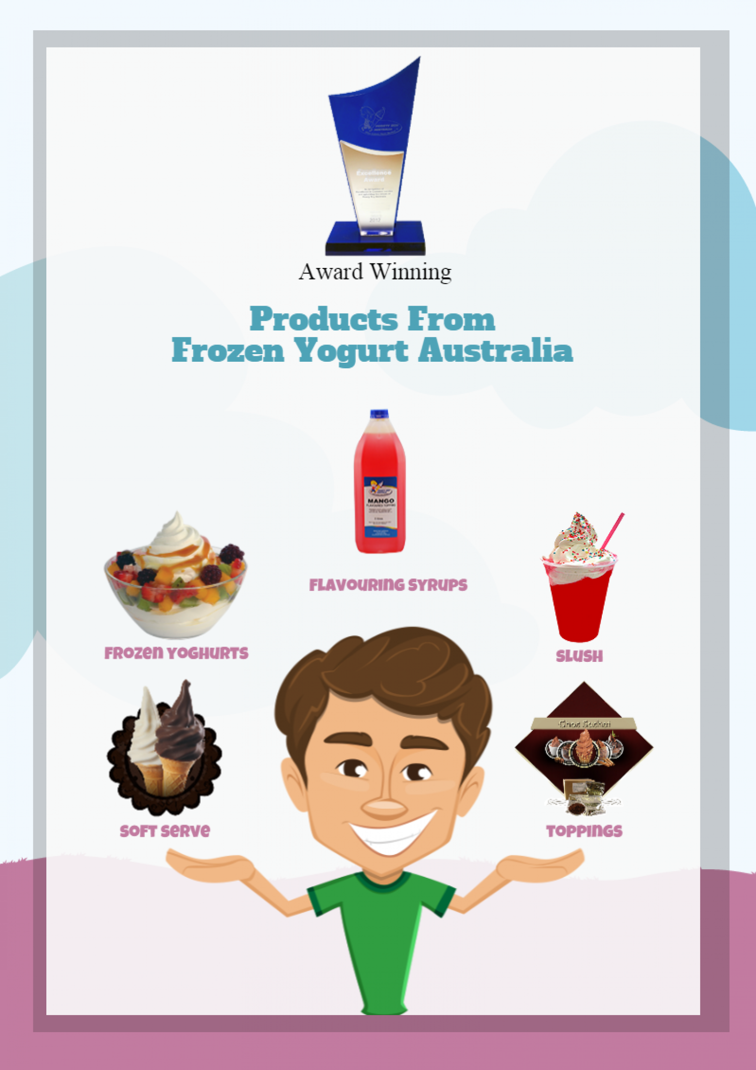 Frozen yogurt Australia - Award winning products Infographic