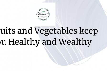 Fruits and vegetables keep you Healthy and Wealthy Infographic