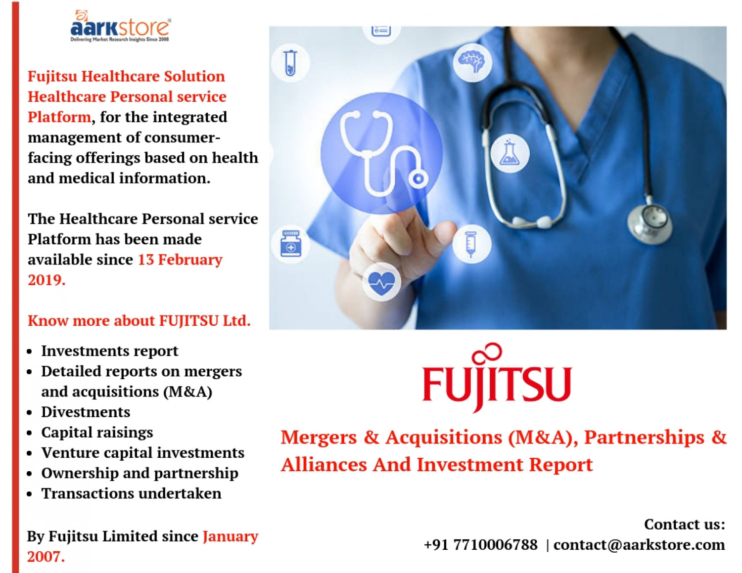 Fujitsu Limited, Mergers and Acquisitions, Partnerships and Alliances - Company Profiles Infographic