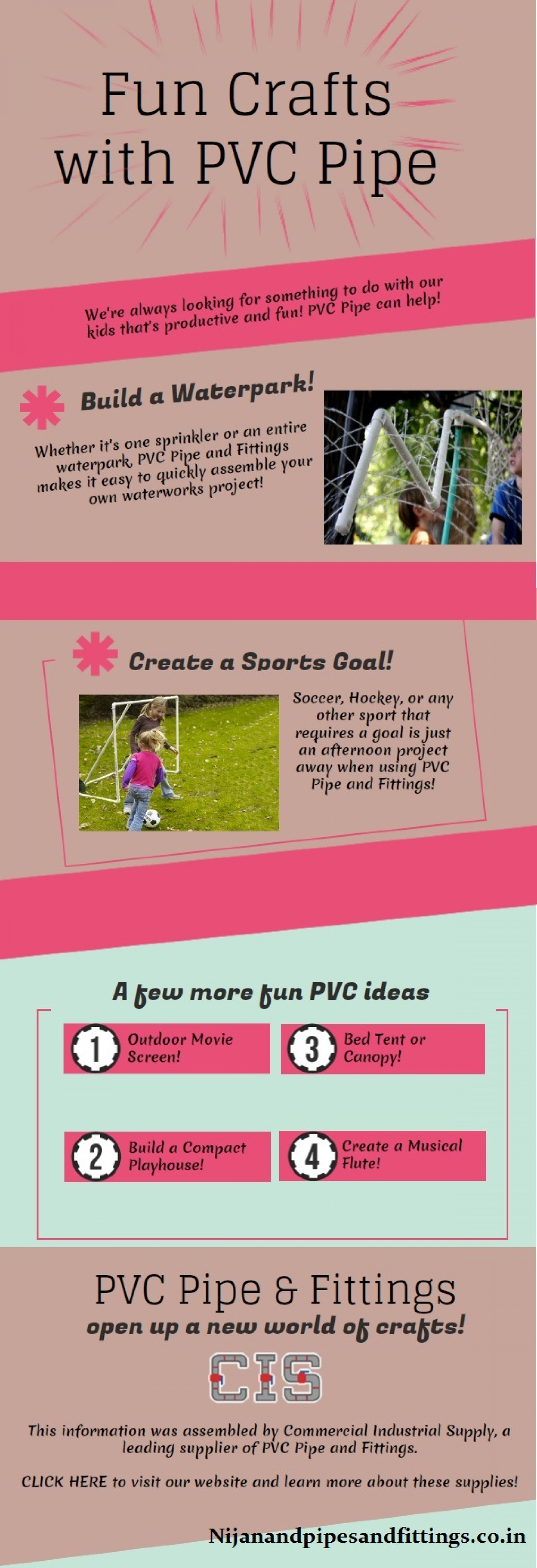 Fun Crafts With PVC Pipe Infographic