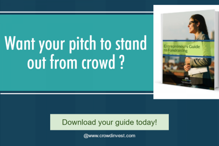 Fundraising guide for entrepreneurs by Crowdinvest Infographic