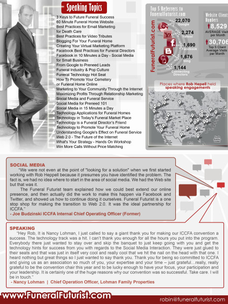 Funeral Futurists  Infographic