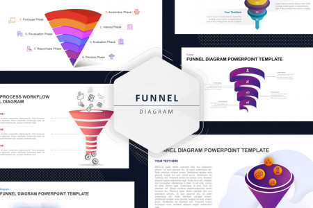 Funnel Diagram Business PowerPoint Templates Infographic