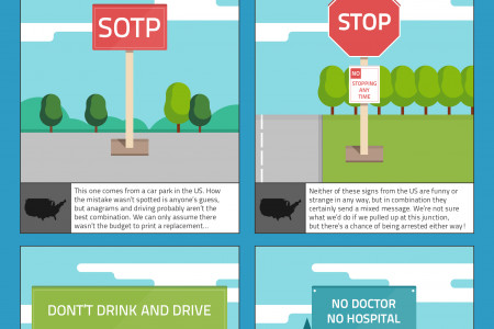 Funny Warning Signs from Around The World Infographic