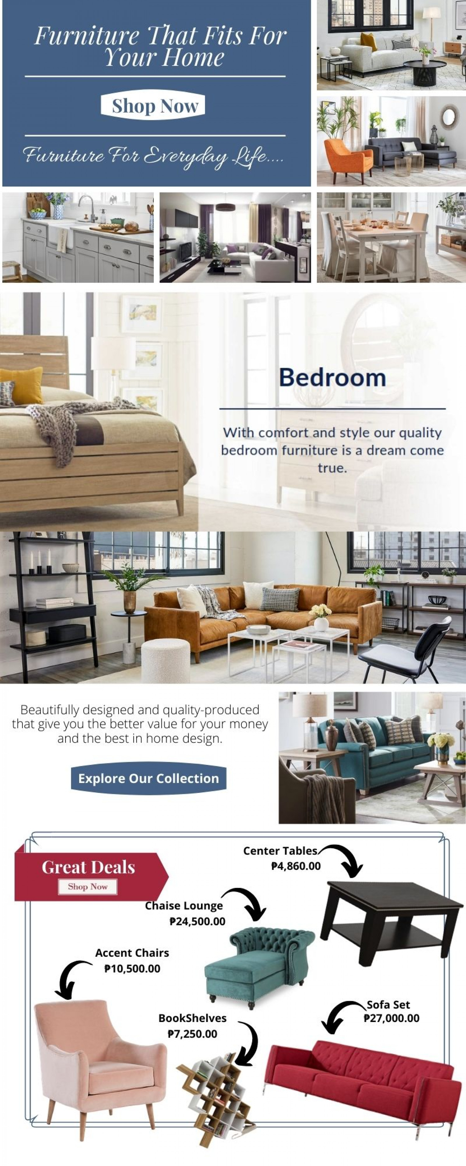 Furniture That Fits For  Your Home Infographic
