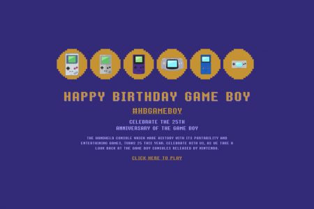 Game Boy 25th Birthday Infographic