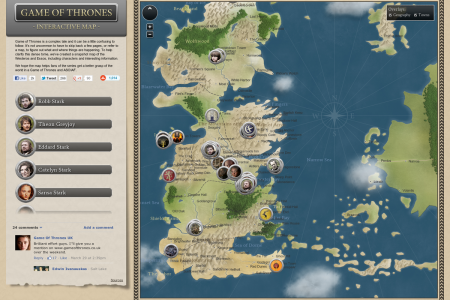 Game of Thrones Interactive Map Infographic