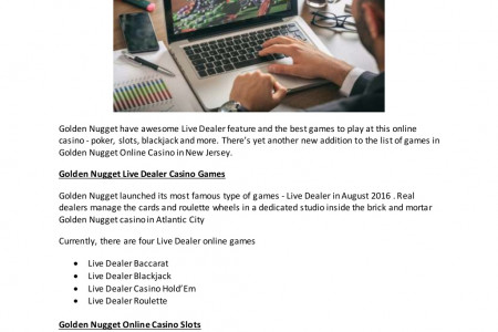 Games selection at golden nugget online casino Infographic