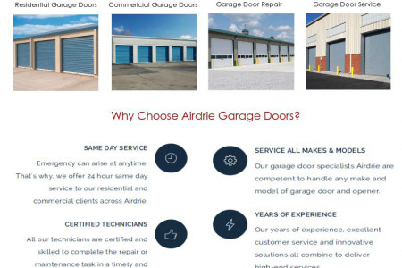 Garage Door Installation & Repair Services in Airdrie Infographic