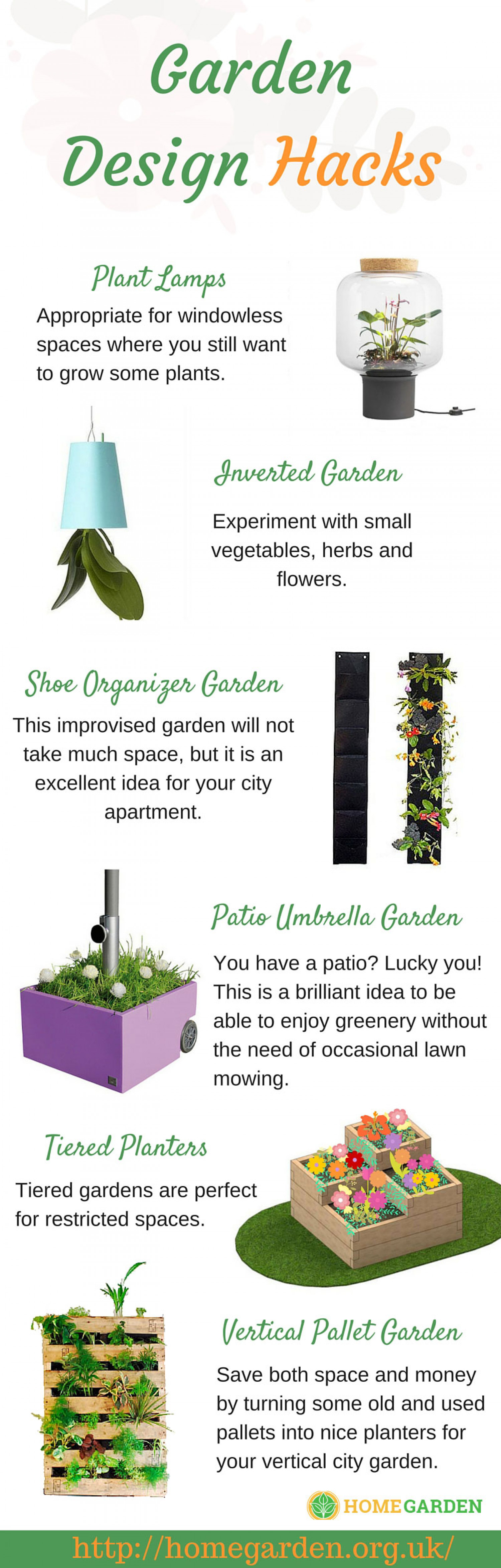 Garden Design Hacks Infographic