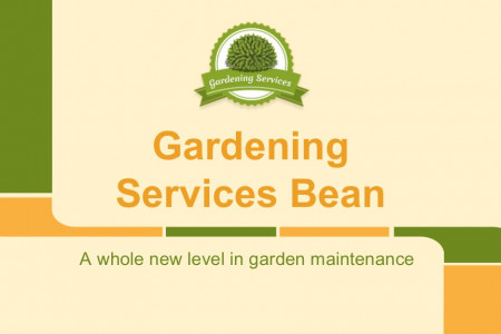 Gardening Bean - A new level of garden maintenance Infographic
