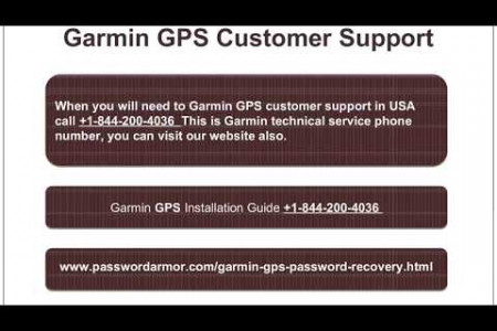 Garmin GPS Password Recovery and Tech Support Infographic