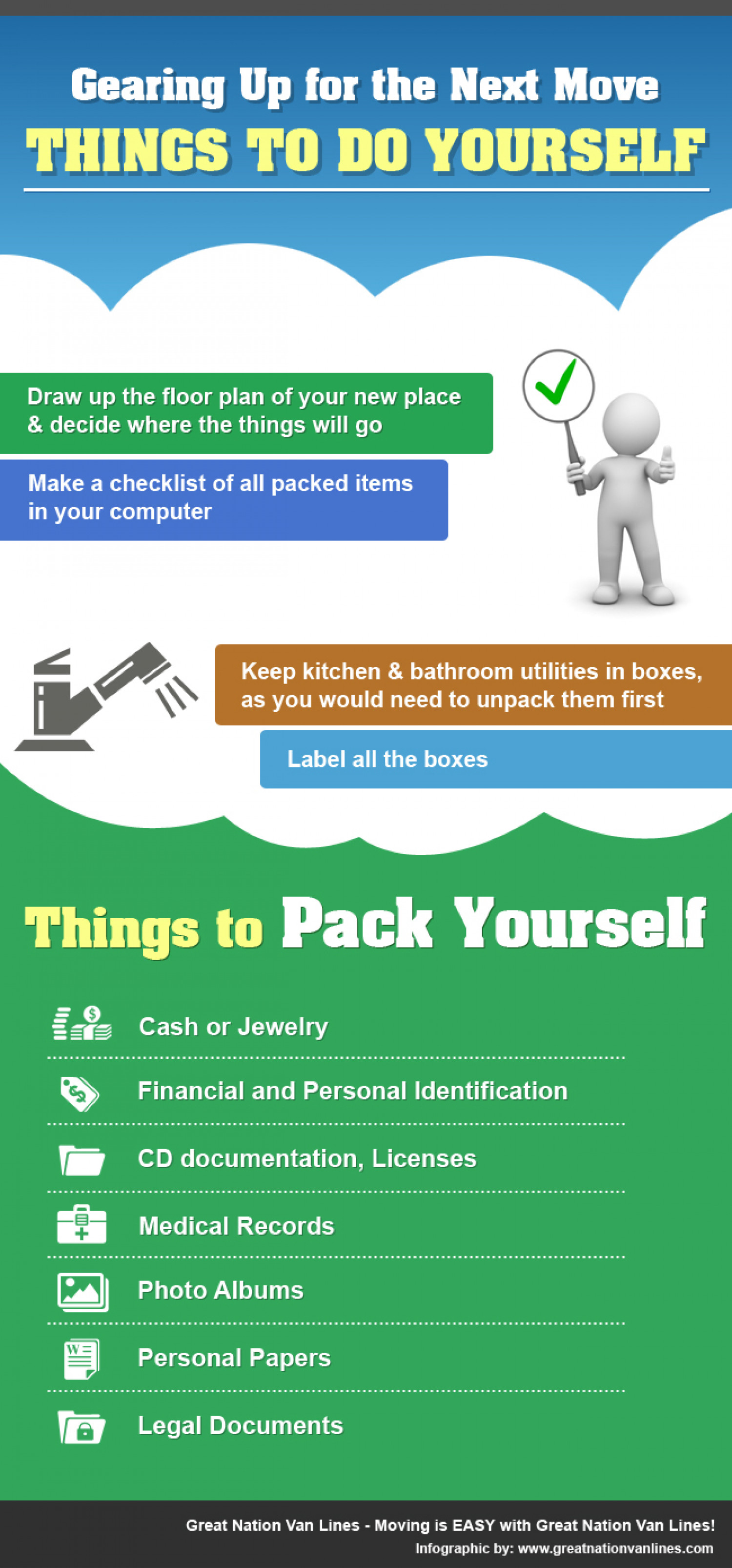 Gearing Up for the Next Move: Things to Do Yourself Infographic