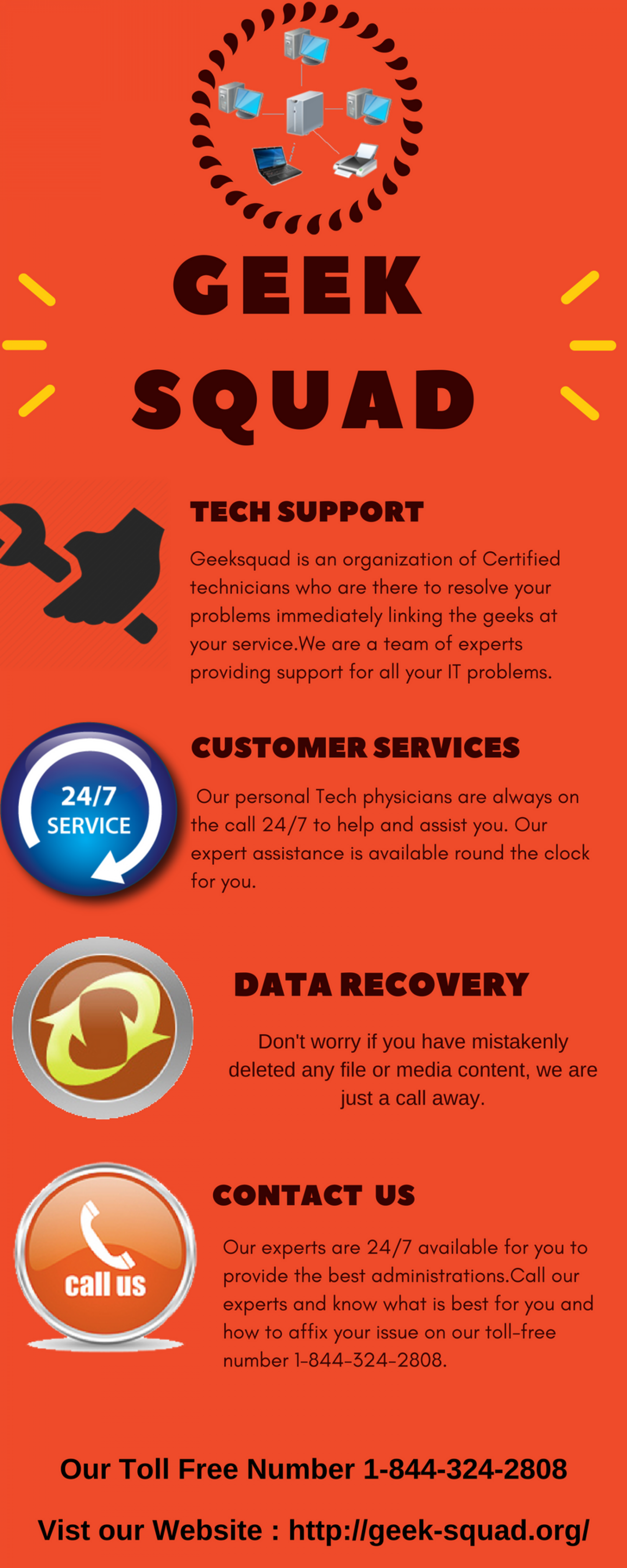 Geek Squad Online Technical Assistance 1-844-324-2808 Number Infographic