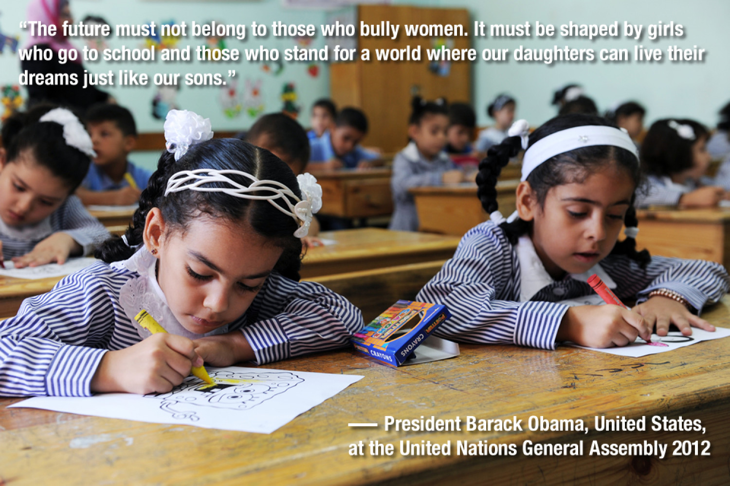 Gender quotes GA67: Barack Obama on girls education Infographic