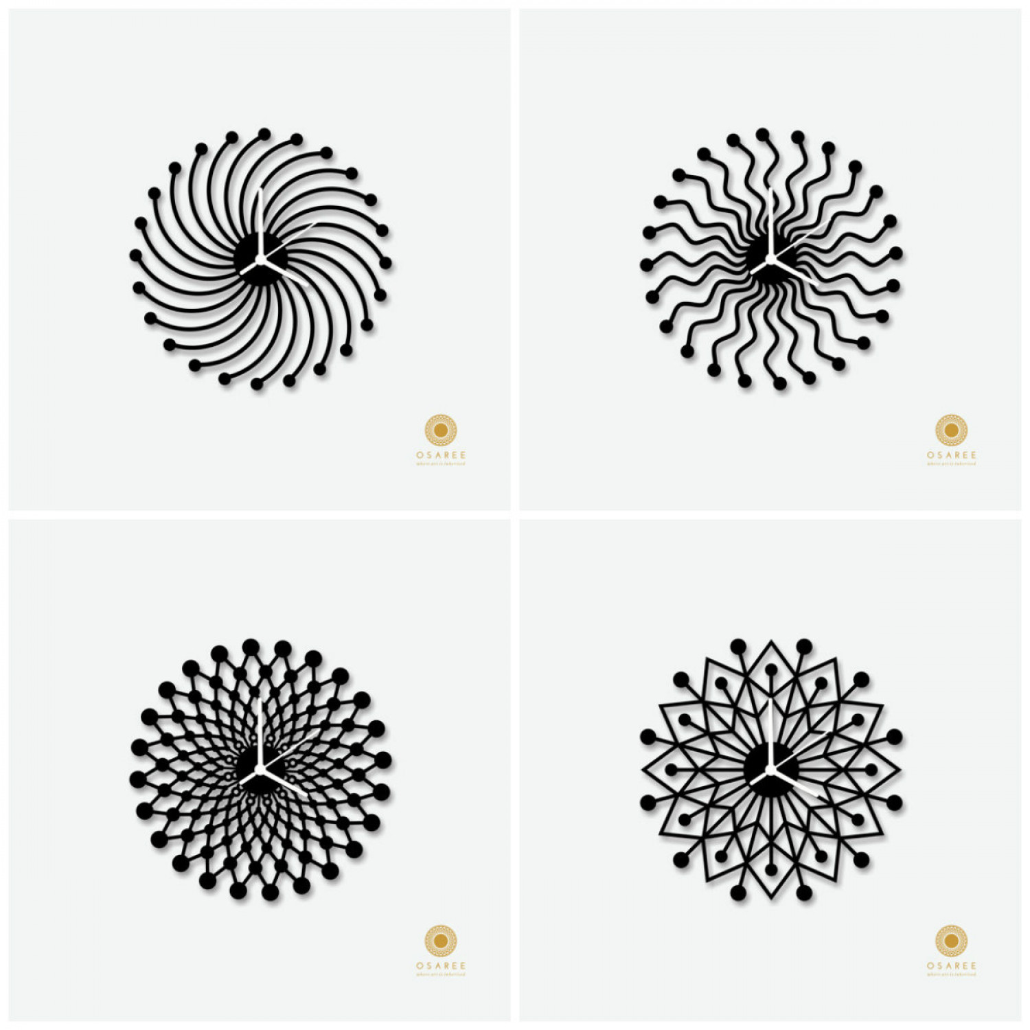 Geometric Designer Wall Clock For Sweet Home  Infographic