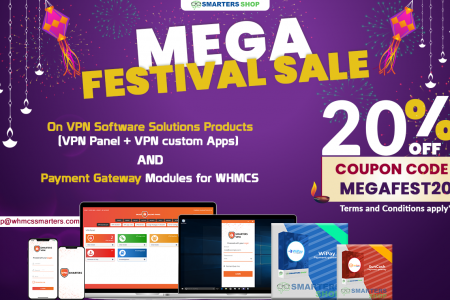 GET 20% OFF ON VPN SOFTWARE SOLUTIONS PRODUCTS AND PAYMENT GATEWAY MODULES Infographic