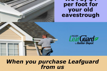 Get $4 Per Foot For Your Old Eavestrough | Gutter Depot Infographic
