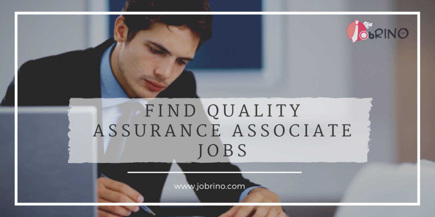 Get a job online in Quality Assurance Associate in the USA - JobRino Infographic