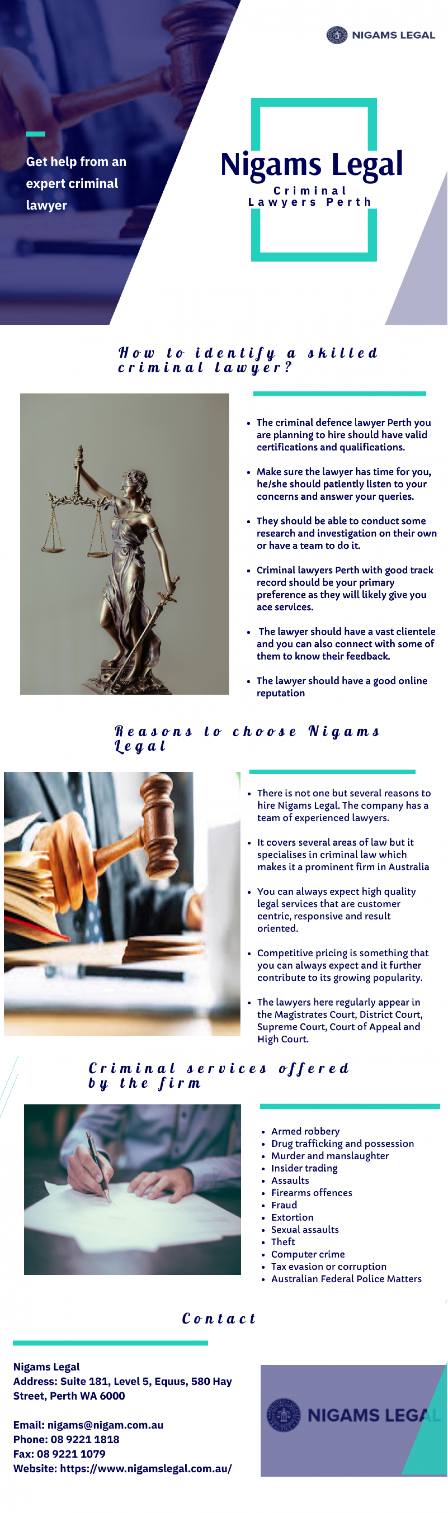 Get Assistance from an Experienced Criminal Lawyer Infographic