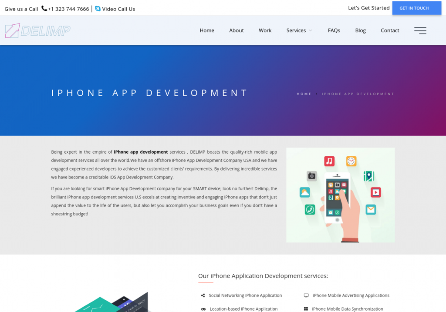 Get creative iPhone apps for your company via top iPhone App Development Company Infographic