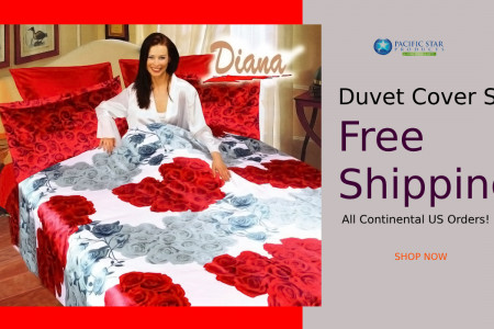 Get Free Shipping Duvet Cover Set in Low Price Infographic