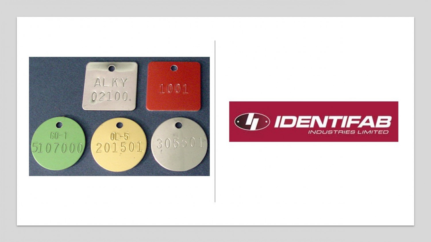 Get Highly Durable Valve Tags from Identifab Industries Infographic
