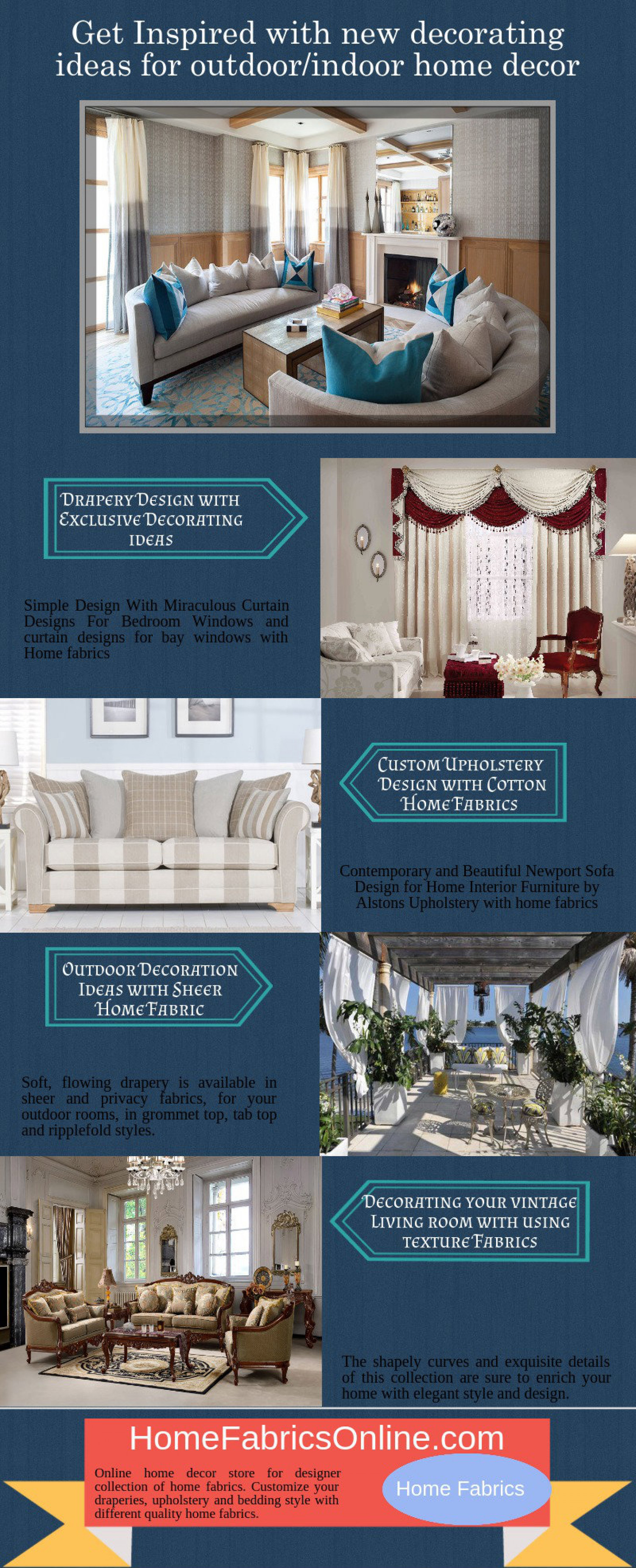 Get Inspired With New Decorating Ideas For Outdoor/indoor Home Decor  Infographic