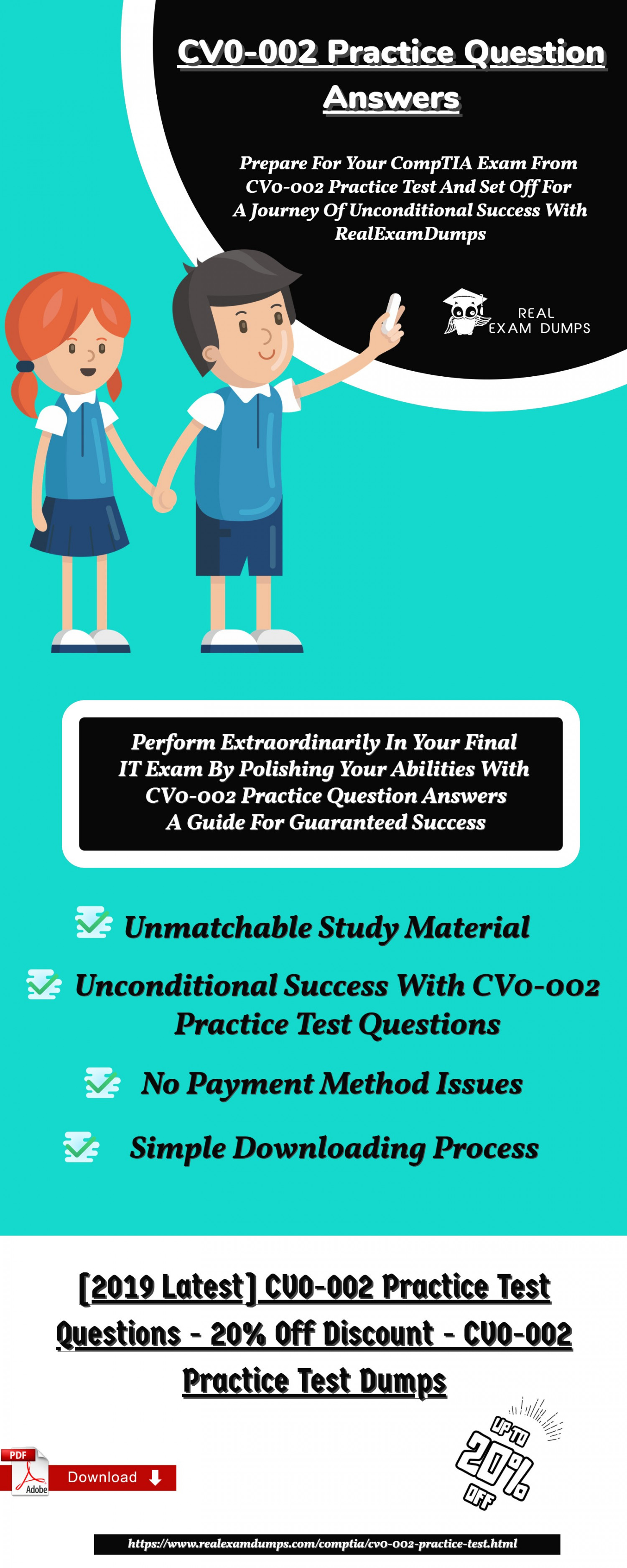 Get Latest CompTIA CV0-002 Practice Test Dumps -  CV0-002 Practice Question -Realexamdumps.com Infographic