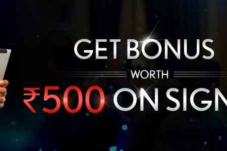 Get Rs.500 bonus on signup Infographic