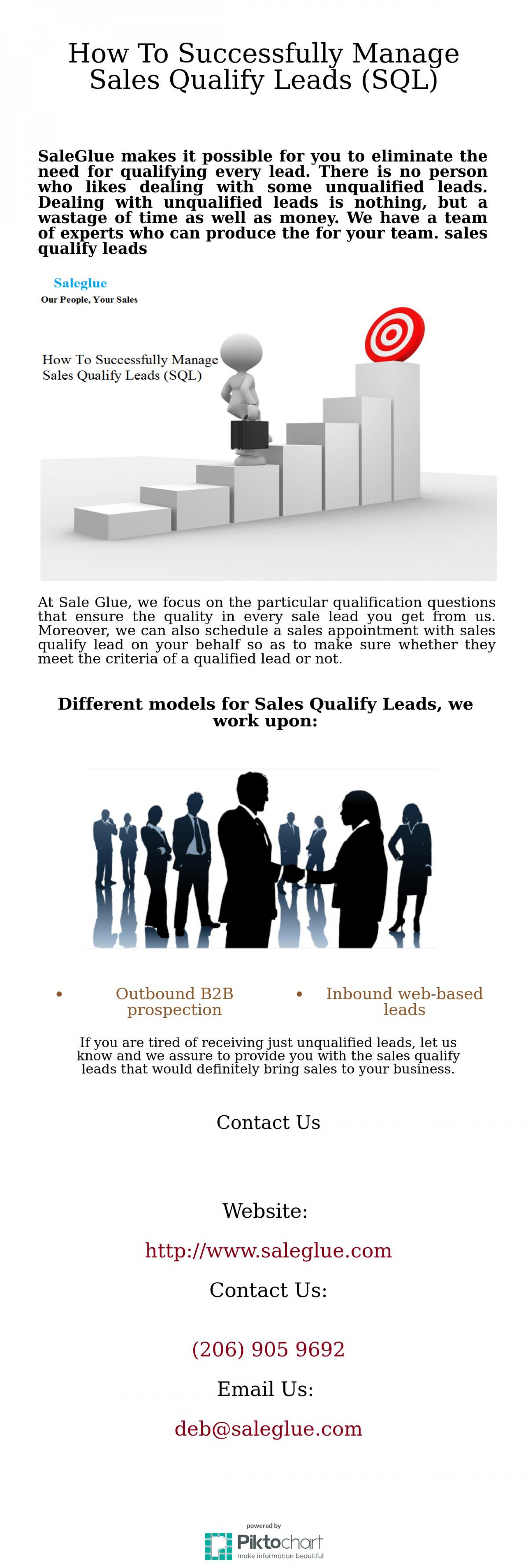 Get Sales Qualify Leads at Sale Glue Infographic