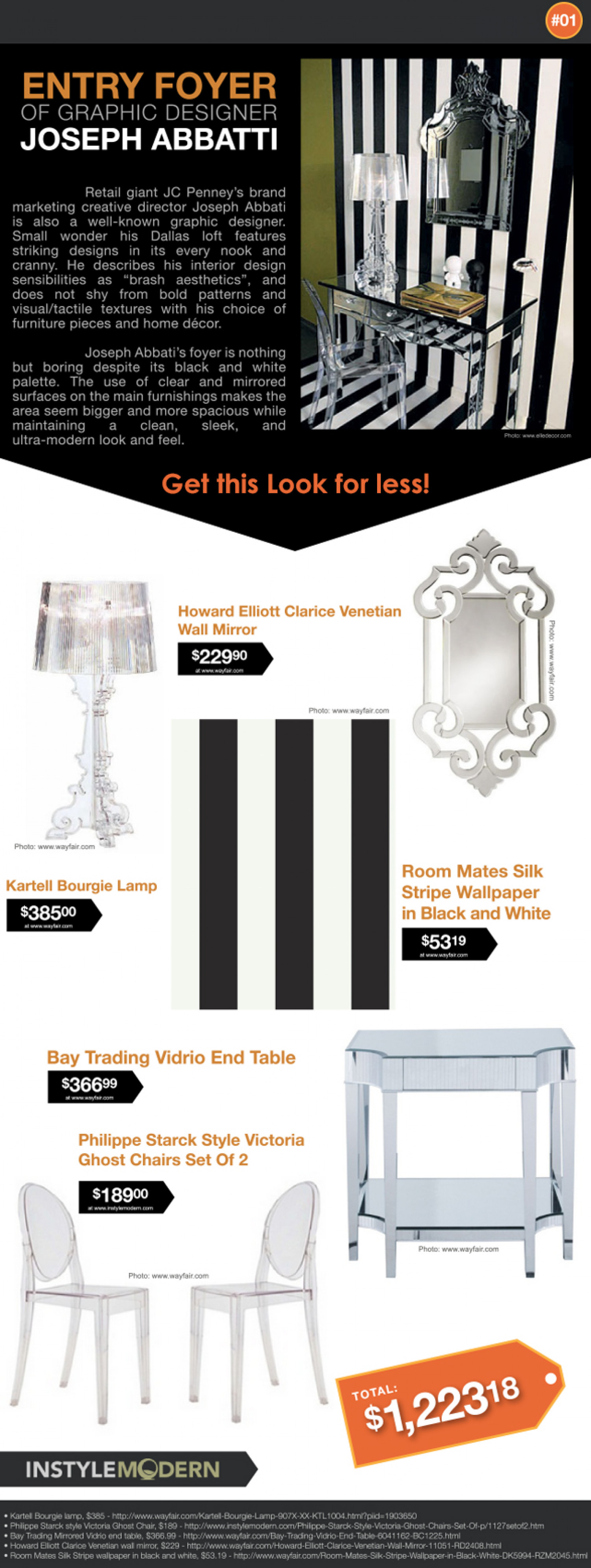 Get That Look - Joseph Abbatti's Entry Foyer Infographic
