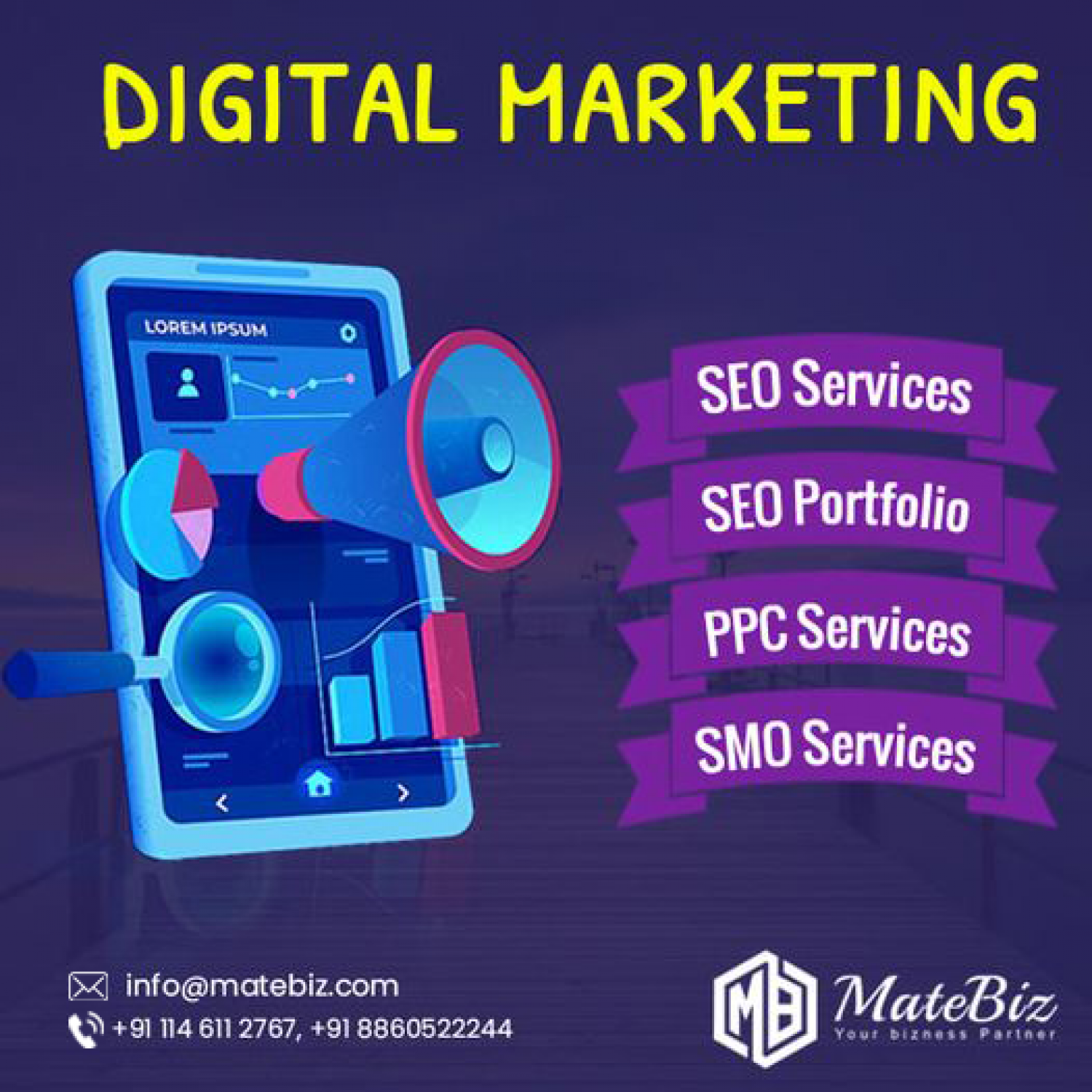 Get The Best Digital Marketing Services in India with Matebiz Infographic