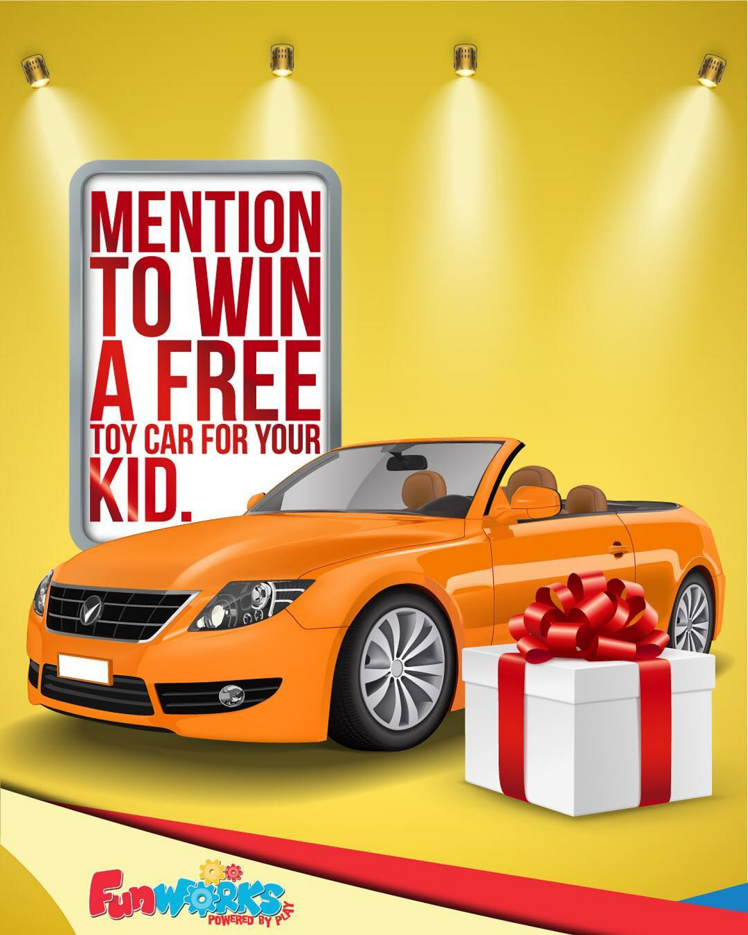 Get the chance to win an awesome toy car from Fun Works . Infographic