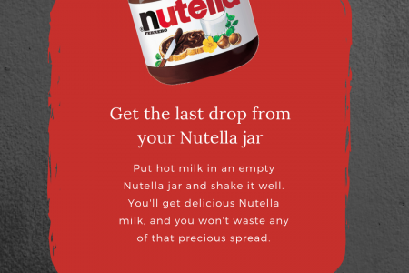 Get The Last Drop from Your Nutella Jar Infographic